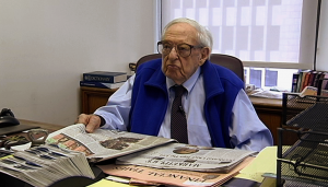 Irving Kahn - age 107- in his office
