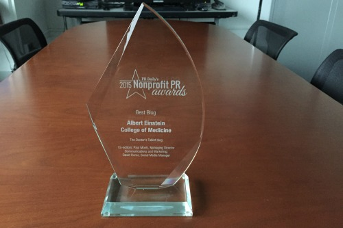 Doctor's Tablet Wins PR Daily Best Nonprofit Blog 2015